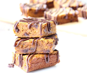 The BEST EVER Paleo Chocolate Chip Pumpkin Protein Bars! They're gluten free, vegan, soy free and packed with plant protein making them perfect for breakfast or a healthy dessert!