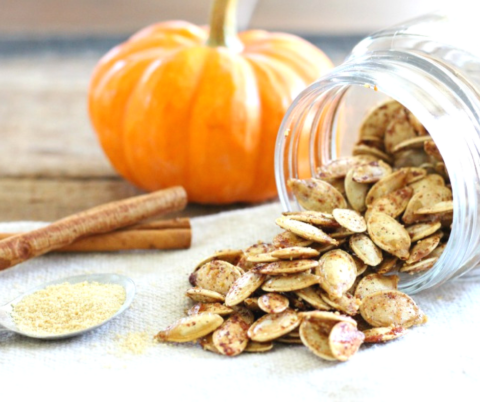 Cinnamon toast pumpkin seeds the fit foodie mama