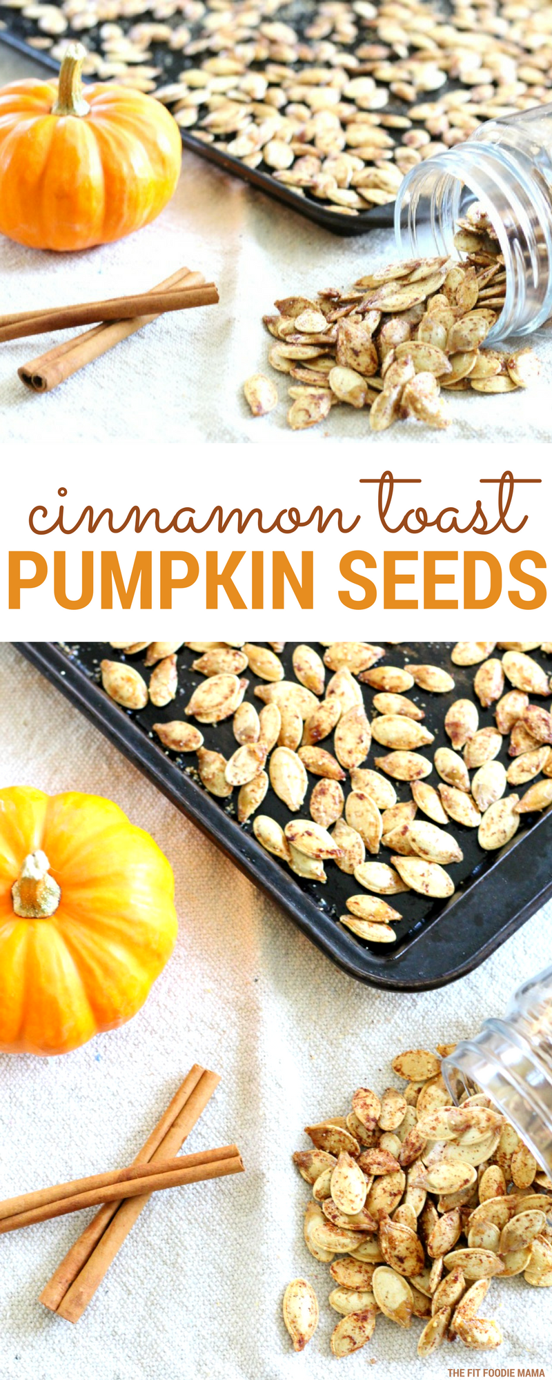 Cinnamon Toast Crunch Pumpkin Seeds that are healthy and just three ingredients!