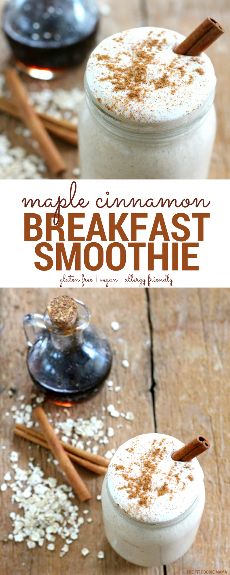 This high protein Maple Cinnamon Breakfast Smoothie is the perfect post-run recipe. It's packed with plant protein, gluten free oats and nut free flax milk. It's also quick and easy to whip up and take with you on the go so you can refuel as you recover.