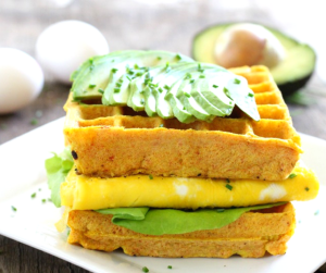 Gluten Free Blueberry Zucchini Waffles The Fit Foodie Mama