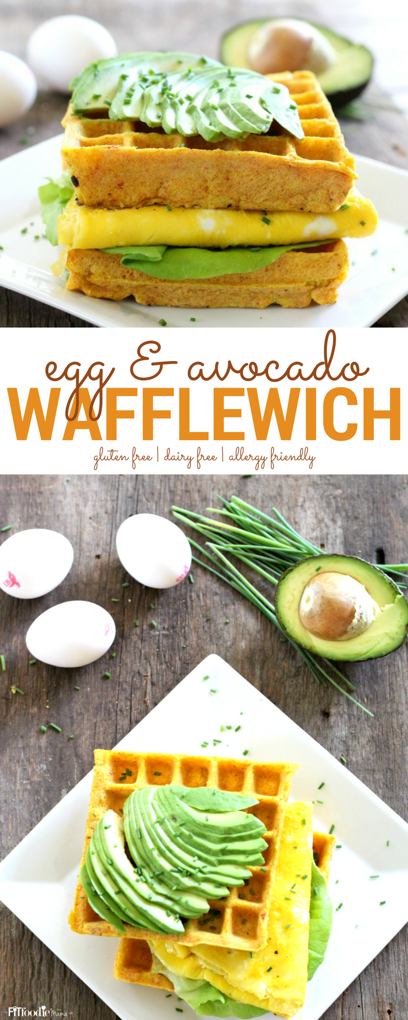 Satisfy your post-run hunger with this allergy friendly Egg & Avocado Recovery Wafflewich! It's gluten free, dairy free and packed with nutritious protein from Eggland's Best eggs!