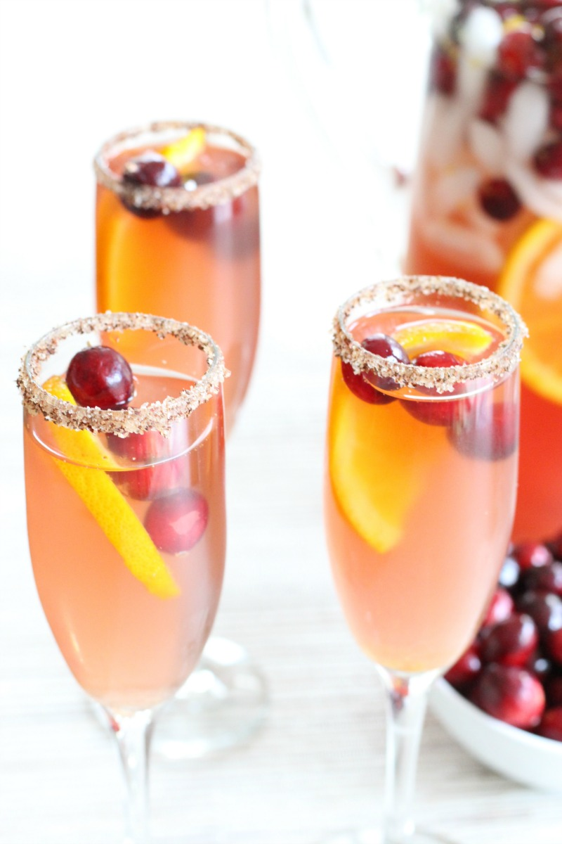 Sparkling Spiced Cranberry Cocktails for the holidays