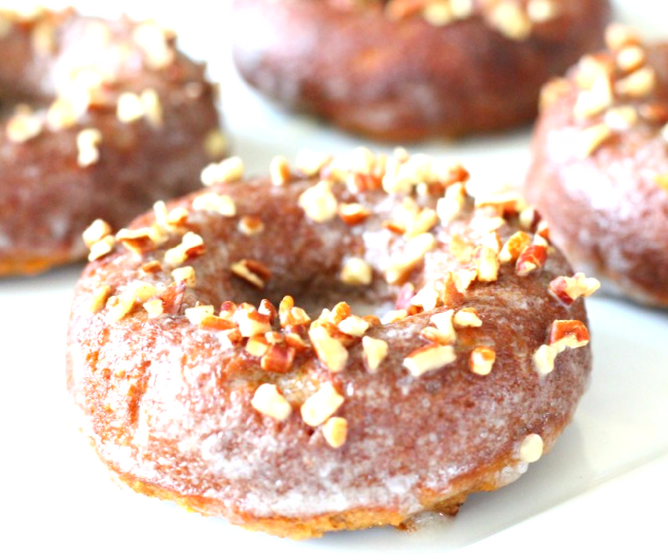 Quick and Easy Maple Pecan Paleo Donuts