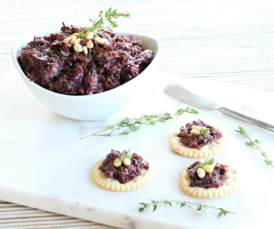 3 Ingredient Medjool Date & Kalamata Olive Tapenade